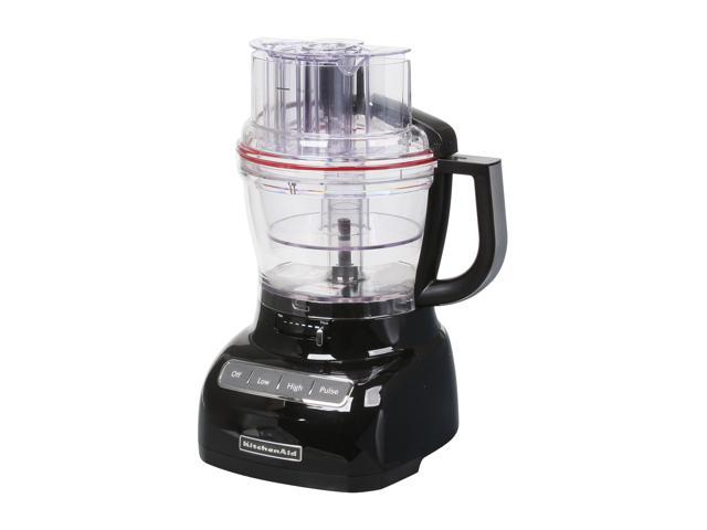 KitchenAid KFP1333OB Onyx Black 13-Cup Food Processor with ExactSlice System 3 Speeds