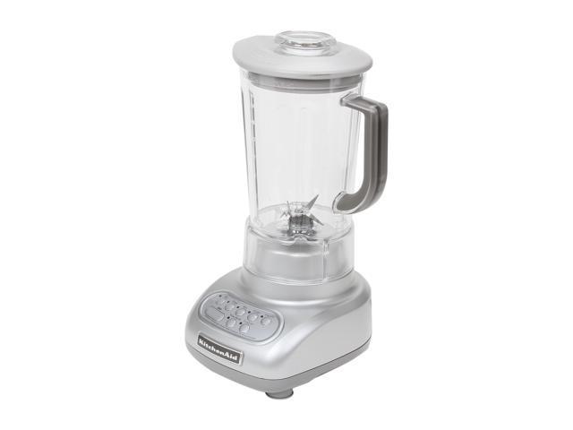 KitchenAid KSB560SM Silver Metallic 56 oz. Jar Size Artisan Series Blender with BPA-Free Pitcher 5 speeds