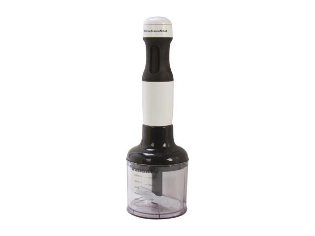KitchenAid KHB2351WH White 3-Cup Jar Size 3-Speed Hand Blender 3 speeds