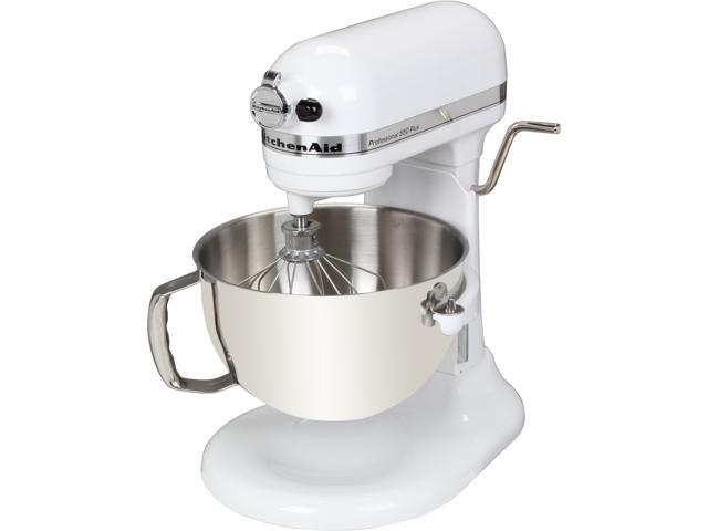 KitchenAid KV25MEXWH Professional 550 Plus 5.5 Qt. Stand Mixer, Bowl Lift White