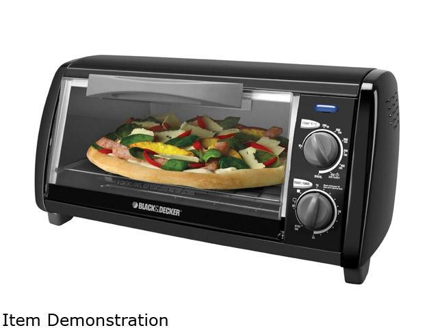 Black & Decker Black 4-Slice 4-Slice Toaster Oven, Black TO1420B