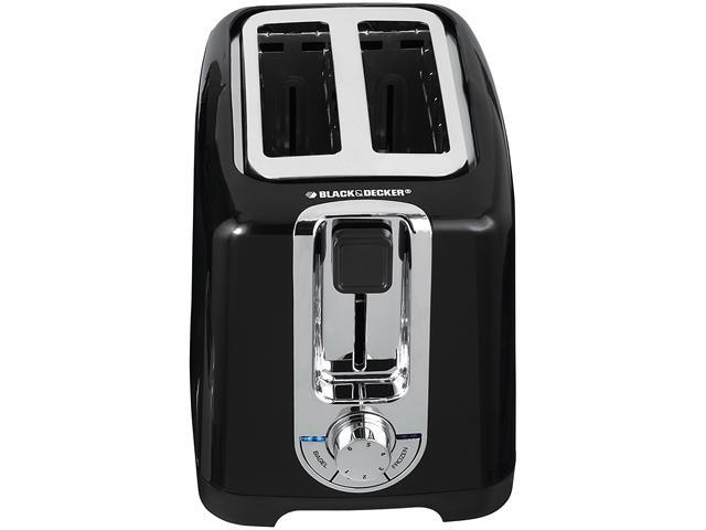 Black & Decker TR1256B Black 2-Slice Toaster with Bagel Function and Removable Crumb Tray