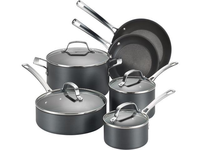Circulon 83591 10-Piece Cookware Set Silver
