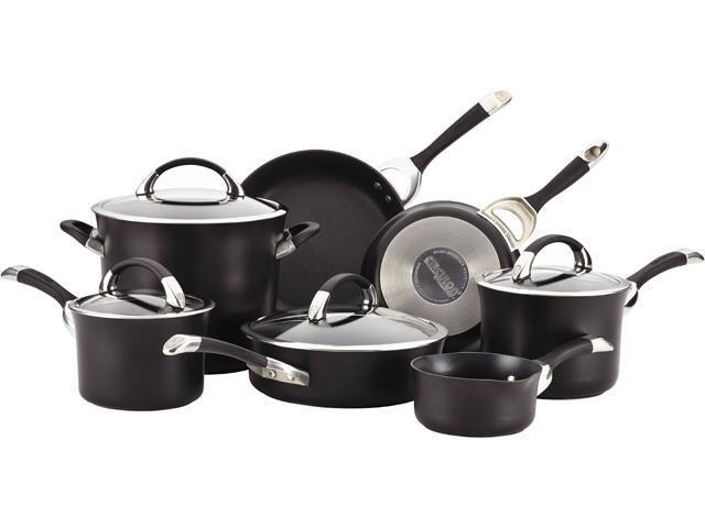 Circulon 87376 11-Piece Cookware Set Black