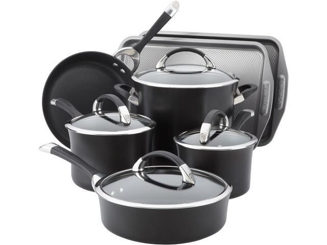 Circulon 82983 9-Piece Cookware Set with 2-Piece Bakeware set Black