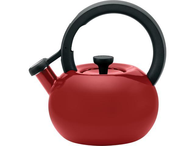 Circulon 56588 Red 1.5-Quart Circles Teakettle, Rhubarb Red