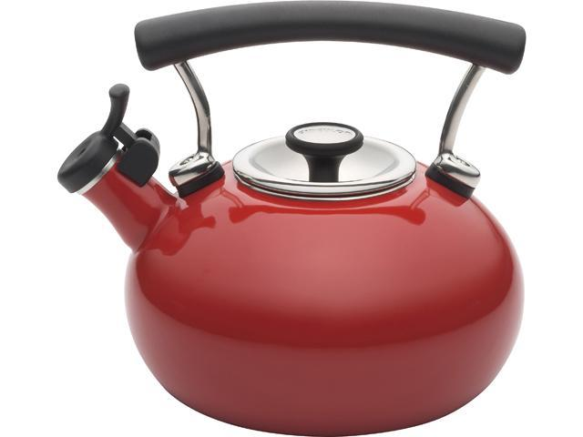 Circulon 2-qt. Contempo Whistling Tea Kettle, Red