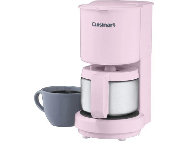 Cuisinart DCC-450PK Pink 4-Cup Coffeemaker with Stainless Steel Carafe