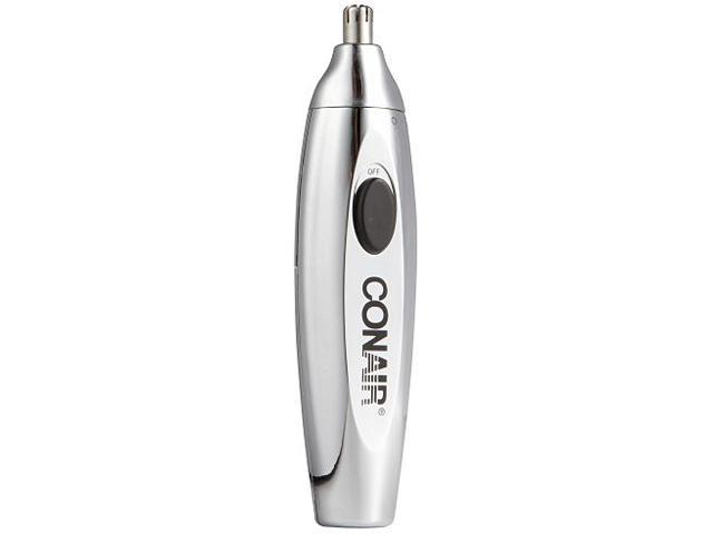 Deluxe Battery-Operated Chrome Nose/Ear Hair Trimmer with Built-In Light