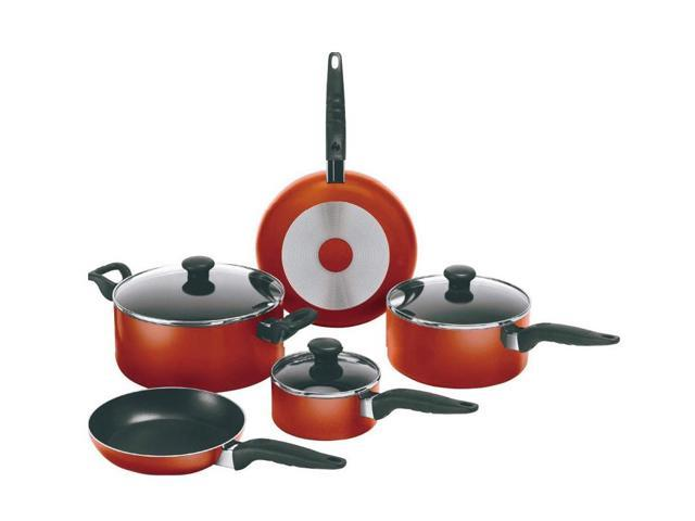 Mirro A796SA64 Get-A-Grip 10-Piece Nonstick Cookware Set Red