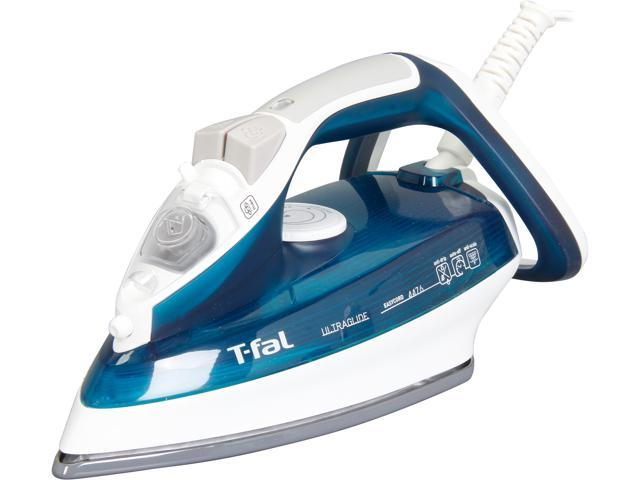T-fal FV4476 Ultraglide Easycord Steam Iron with CERAMIC Scratch Resistant Nonstick Soleplate, Anti-Drip and Scale System, Green