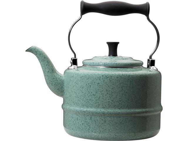 Paula Deen 51651 Signature Teakettles 2-Quart EOS Traditional Teakettle, Blue Speckle