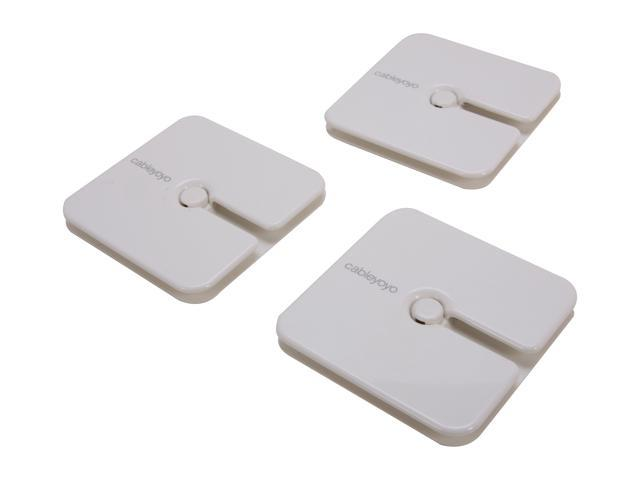 Bluelounge BLUCY-03-WH 3pk Cableyoyo Cable Management - White