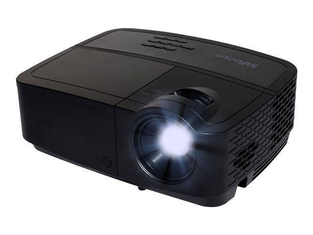 InFocus IN114A 1024x768 XGA 3000 Lumens HDMI 1.4 & Dual VGA Inputs, Brilliant Color Tech, Compact Design, 24 Language Menu, 3D Ready DLP Projector