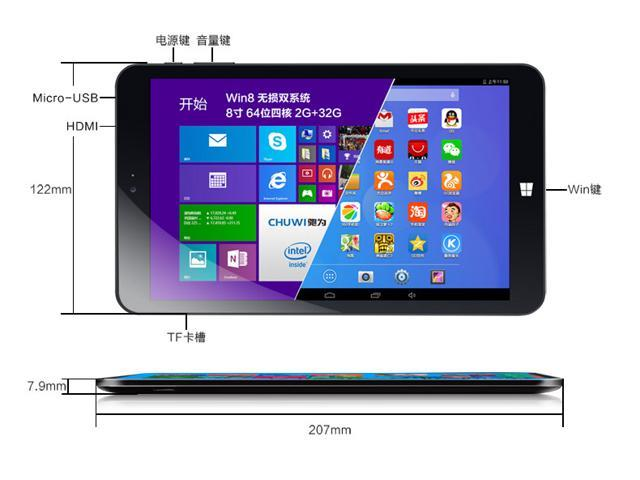 Chuwi Vi8 8 Inch Super Android/Windows IPS Screen Tablet