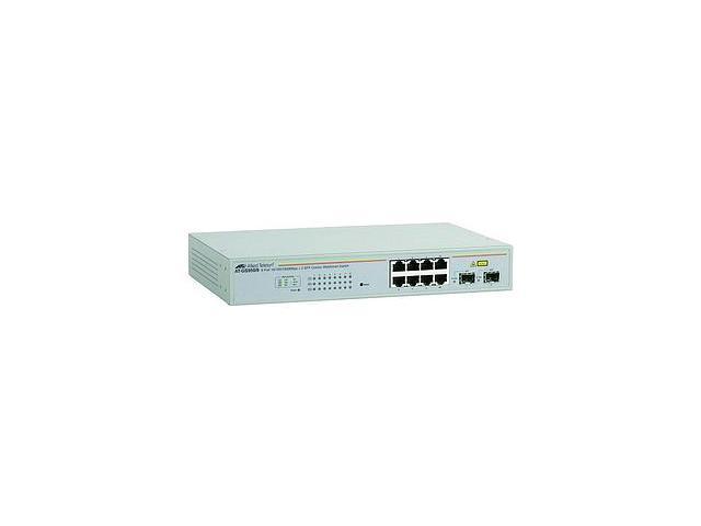 Allied Telesyn WebSmart AT-GS950-8-10 Gigabit Ethernet Switch 8 x 10-100-1000Base-T LAN 2 x SFP Ethernet Switch