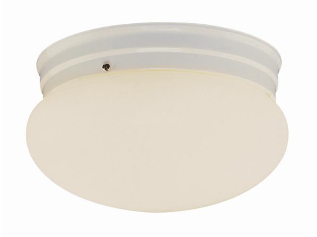 Trans Global Lighting PL-3620 WH Energy Efficient 1 Light Mushroom Flushmount - White