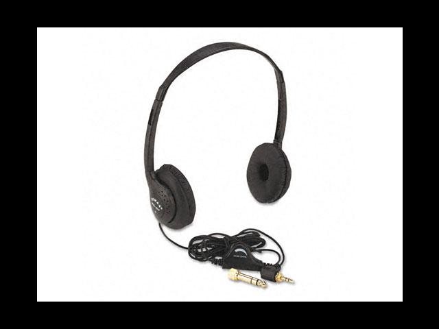 Amplivox SL1006 Personal Multimedia Stereo Headphones with Volume Control Black
