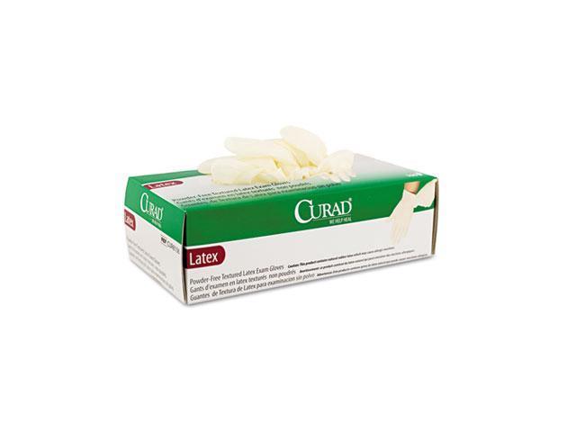 Medline CUR8106 Powder-Free Latex Exam Gloves, Large, 100/Box