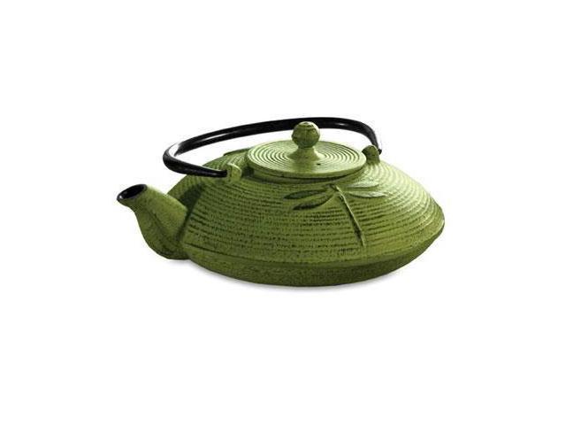 Epoca PCI-5228 Green Cast Iron Tea Pot 28Oz