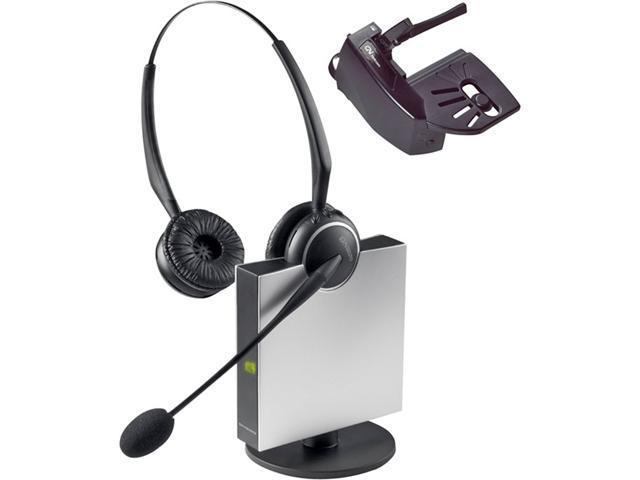 Jabra 9129-808-215 Wireless Flexboom Duo Headset With Noise Canceling Microphone