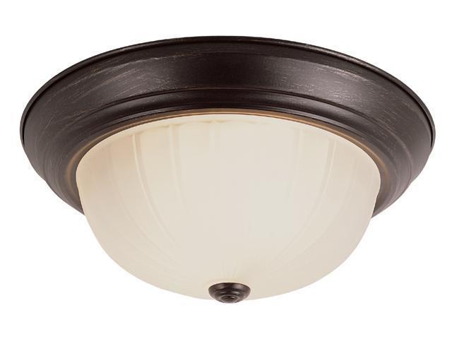 Trans Global Lighting PL-13213-1 ROB Energy Efficient 2 Light Flushmount - Rubbed Oil Bronze