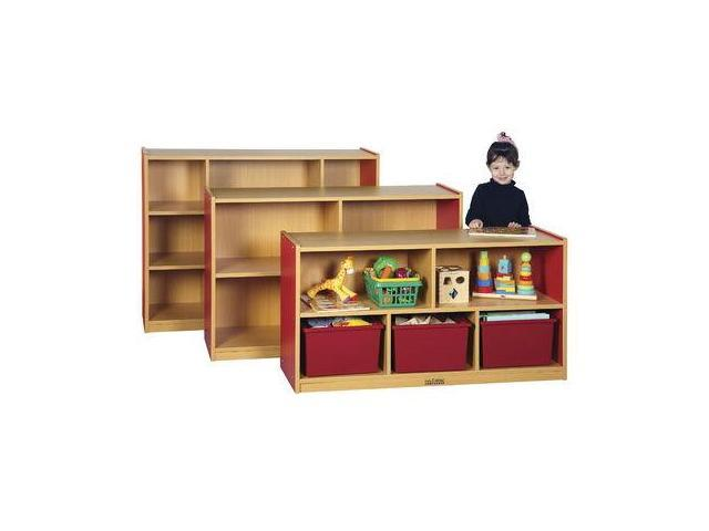 Early Childhood Resource ELR-0713-RD 36 in. Colorful Essentials Storage Cabinet with 8 Compartments - Red