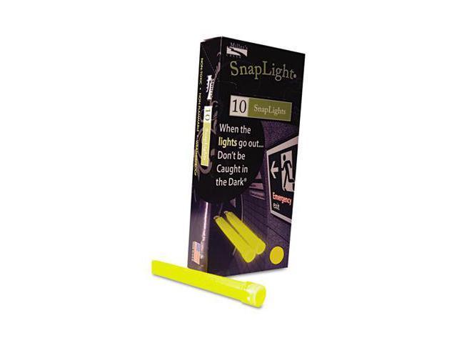 Mle 151849 Snaplights, 6''l x 3/4''w, Yellow, 10/Pack