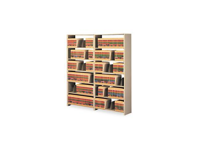 Tennsco 1288ACSD Snap-Together Open Shelving Steel 7-Shelf Closed Add-On Unit 36 x 12 x 88 Sand