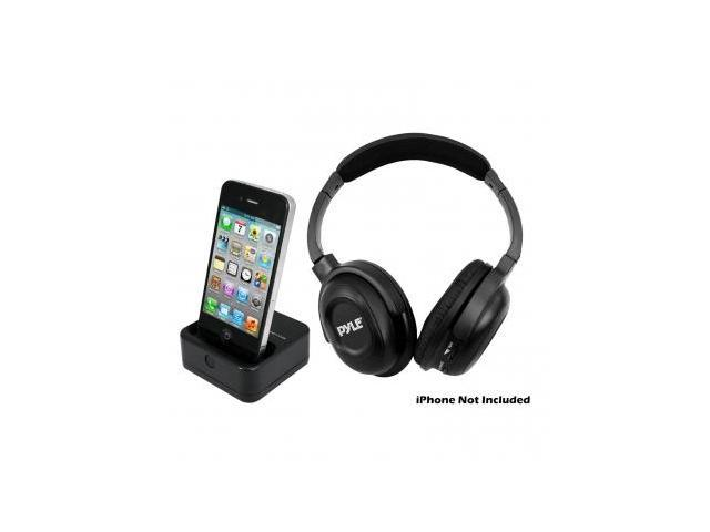 Pyle UHF Wireless Headphones with iPhone-iPod Dock Transmitter and Aux Input