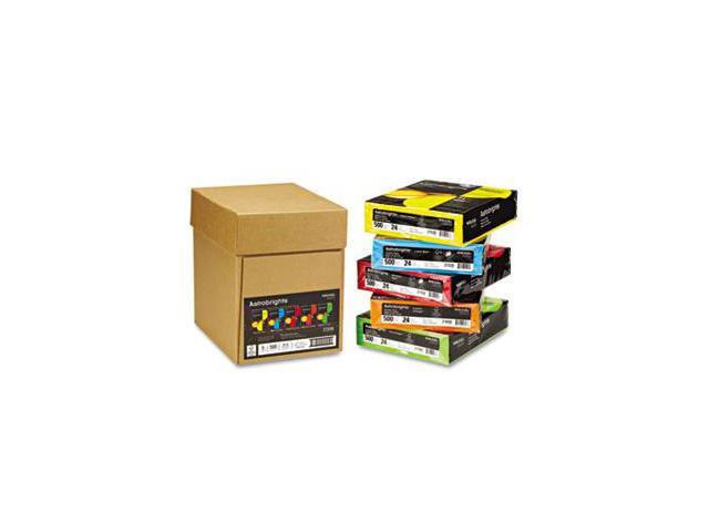 Wausau Paper 22999 Astrobrights Colored Paper- 24lb- 8-1/2 x 11- Assorted- 2500 Sheets/Carton