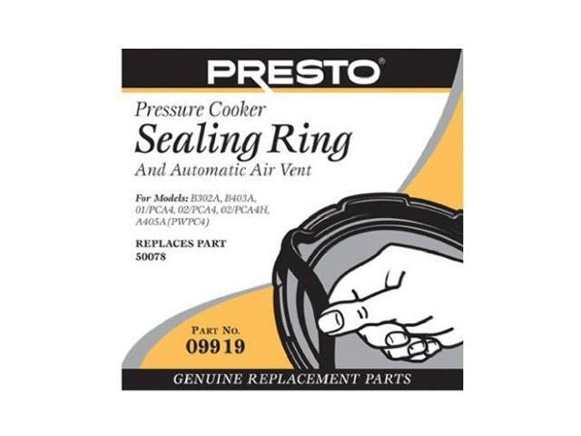 Presto 09907 Pressure Cooker Sealing Ring and Automatic Air Vent
