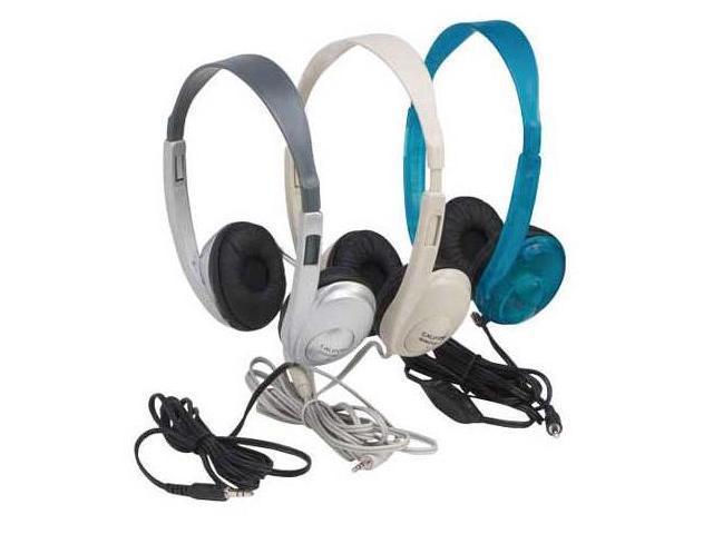 Califone International 3060Av-S Multimedia Stereo Headphones - Silver Color With Volume Control
