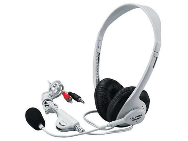Califone International 3064AV Lightweight Stereo Headphones With Boom Microphone