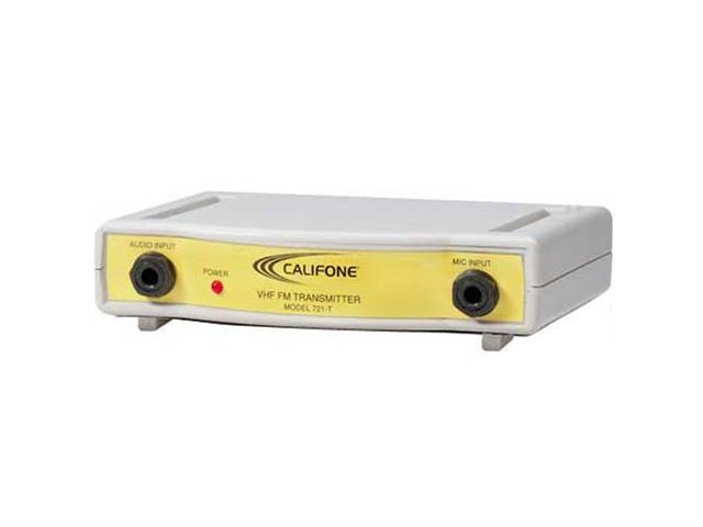 Califone International CLS721-T Wireless VHF-FM Transmitter - Frequency Color-Coded Yellow