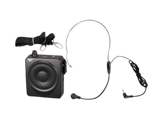PylePro PWMA50B 50 Watts Waist-Band Pa System with Microphone - Black