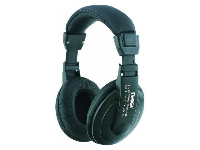 NAXA NE916 Super Bass Professional Digital Stereo Headphones with Volume Control
