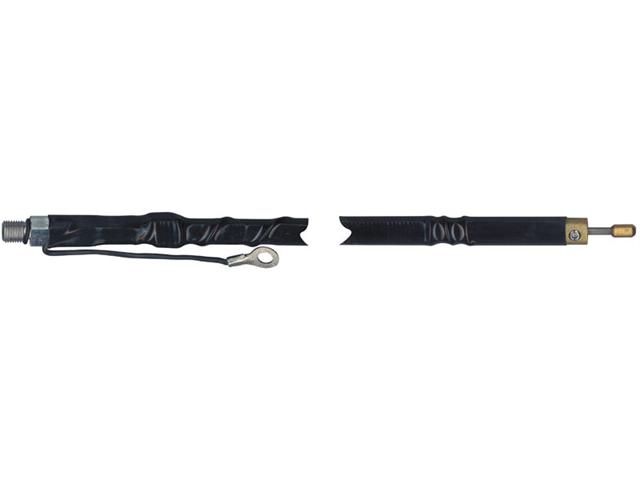 Wilson W4FD-B 4 Foot Tunable Tip Fiberglass Whip Antenna Black