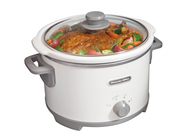 Hamilton Beach 33042 4 Quart Slow Cooker, White
