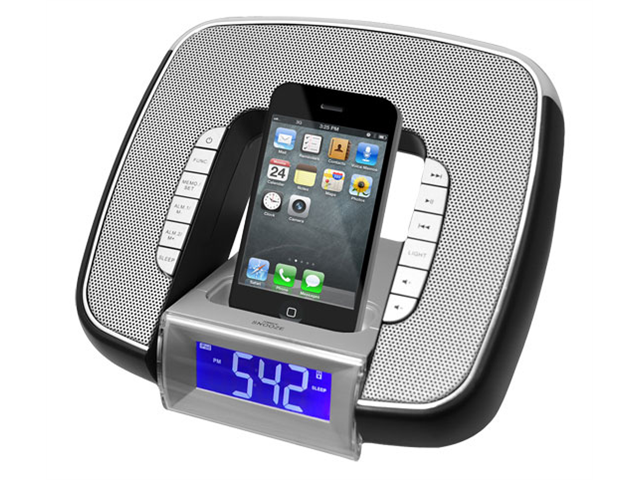 PyleHome PICL29B iPod & iPhone Docking/Aux input Clock Radio with FM Reciever & Dual Alarm Clock