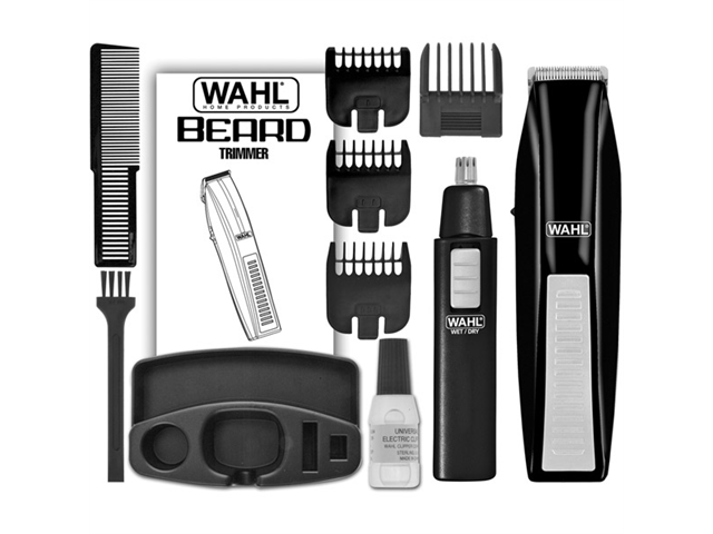 Wireless Men's Beard Trimmer and Ear/Nose Trimmer