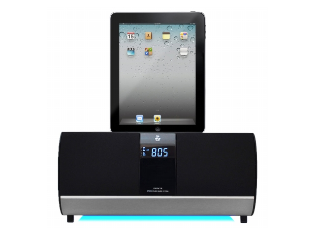 SOUND AROUND-PYLE INDUSTRIES PIPDK78 FM Receiver Radio with iPOD-iPad-Iphone Docking Station and Alarm Clock