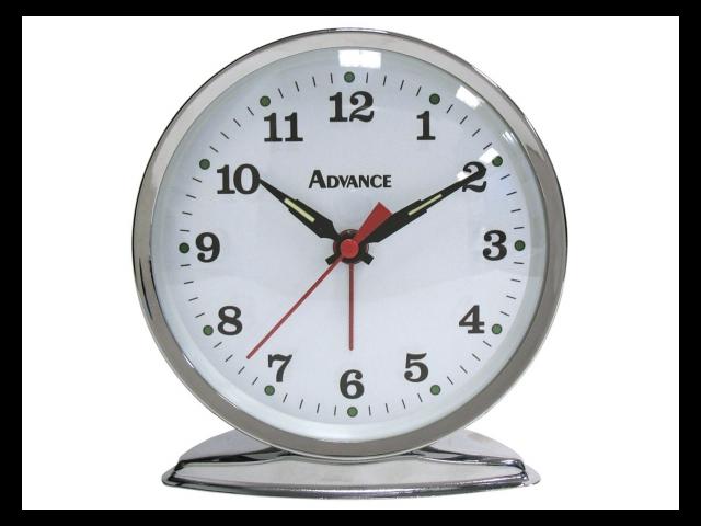 Geneva Clock Keywind Bell Alarm Clock 2100AT