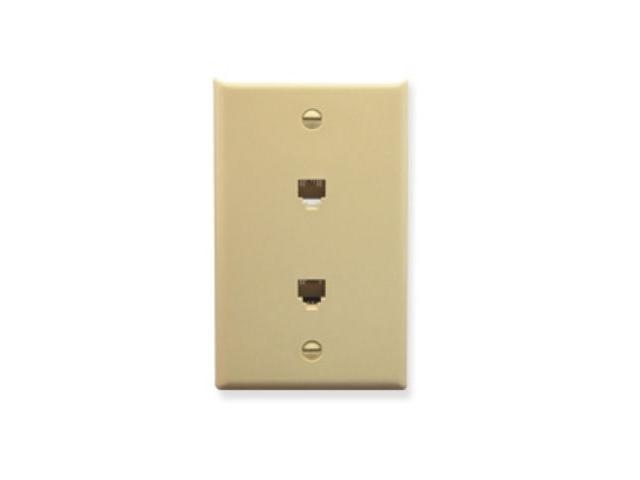 ICC IC630E66IV WALL PLATE, 2 VOICE 6P6C, IVORY