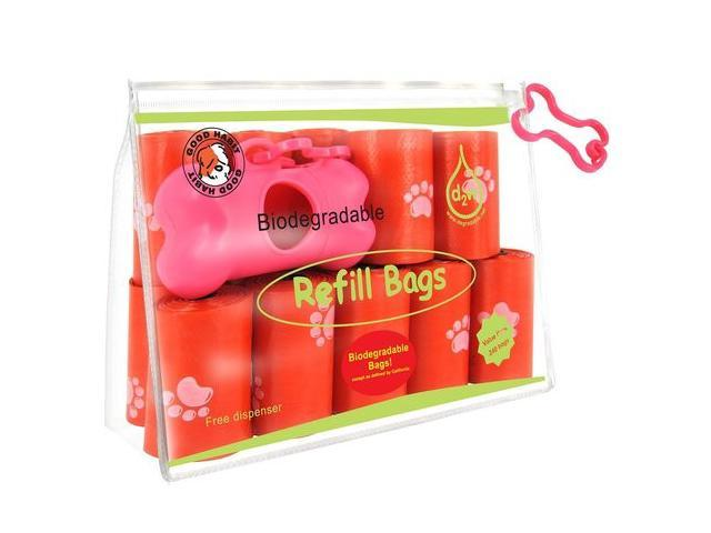 Best Pet Supplies RD-2401 Red Biodegradable Refill Bags - 240 Bag