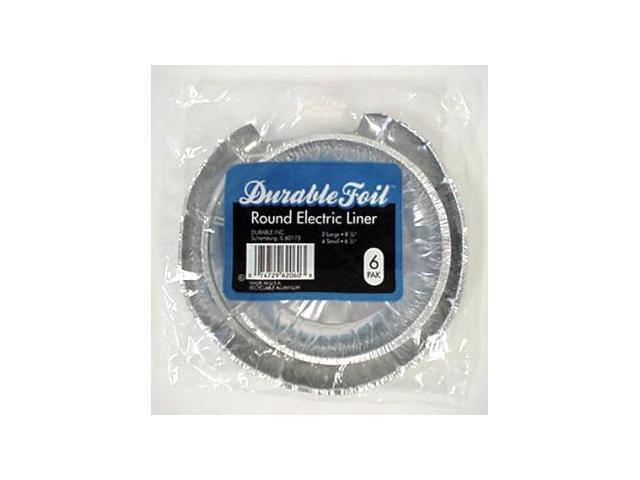 Bulk Buys Round Electric Burner Foil Liners - 6 Pack - Case of 24