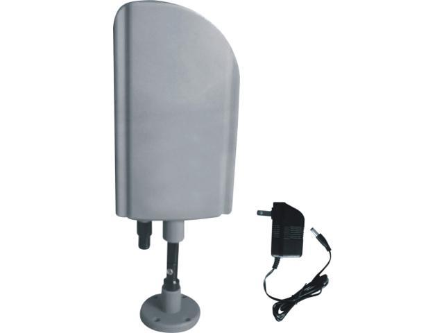 Digiwave ANT4008 Indoor & Outdoor TV Antenna with Booster - CUL Approval Adaptor, Silver Color