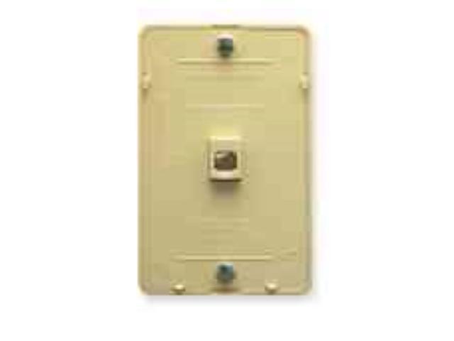 ICC IC630DB6IV Wall Plate IDC 6P6C IVORY