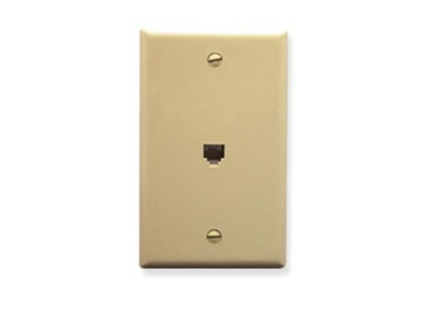 ICC IC630E60IV WALL PLATE, VOICE 6P6C, IVORY