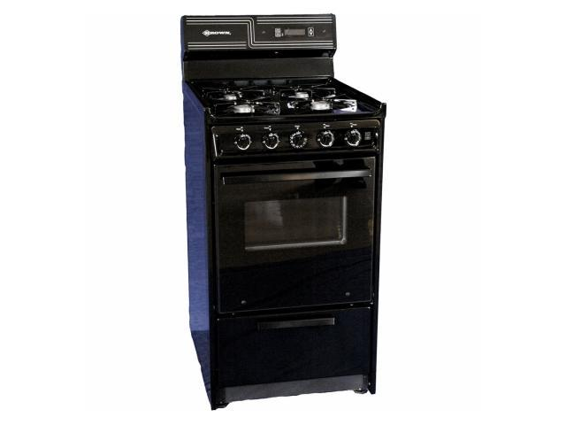 Brown TNM130-7CKW 20 in. Oven Window and Light Natural Gas Range with Electronic Ignition
